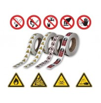 Самоклеящиеся знаки безопасности в рулонах